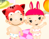 Babies Couple Dress Up Icon