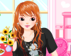 Fancy Girls Dress Up Icon