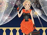 Festive New Year Celebration Dress Up Icon