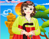 Korean Girl Hanbok Dress Up Icon