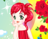 Rose Girl Dress Up Icon
