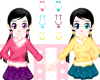Twins Girls Dresses Icon