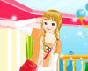 Young Girl Dress Dazzling Icon